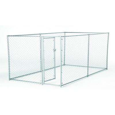 4 ft. H x 5 ft. W x 10 ft. L or 4 ft. H x 8 ft. W x 6.5 ft. L - 2-in-1 Galvanized Chain Link with PC Frame Box Kit