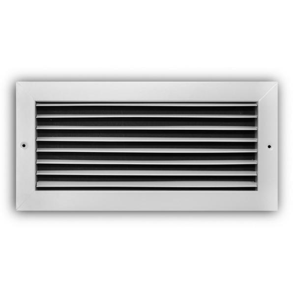 14 in. x 6 in. Steel Fixed Bar Return Air Grille in White