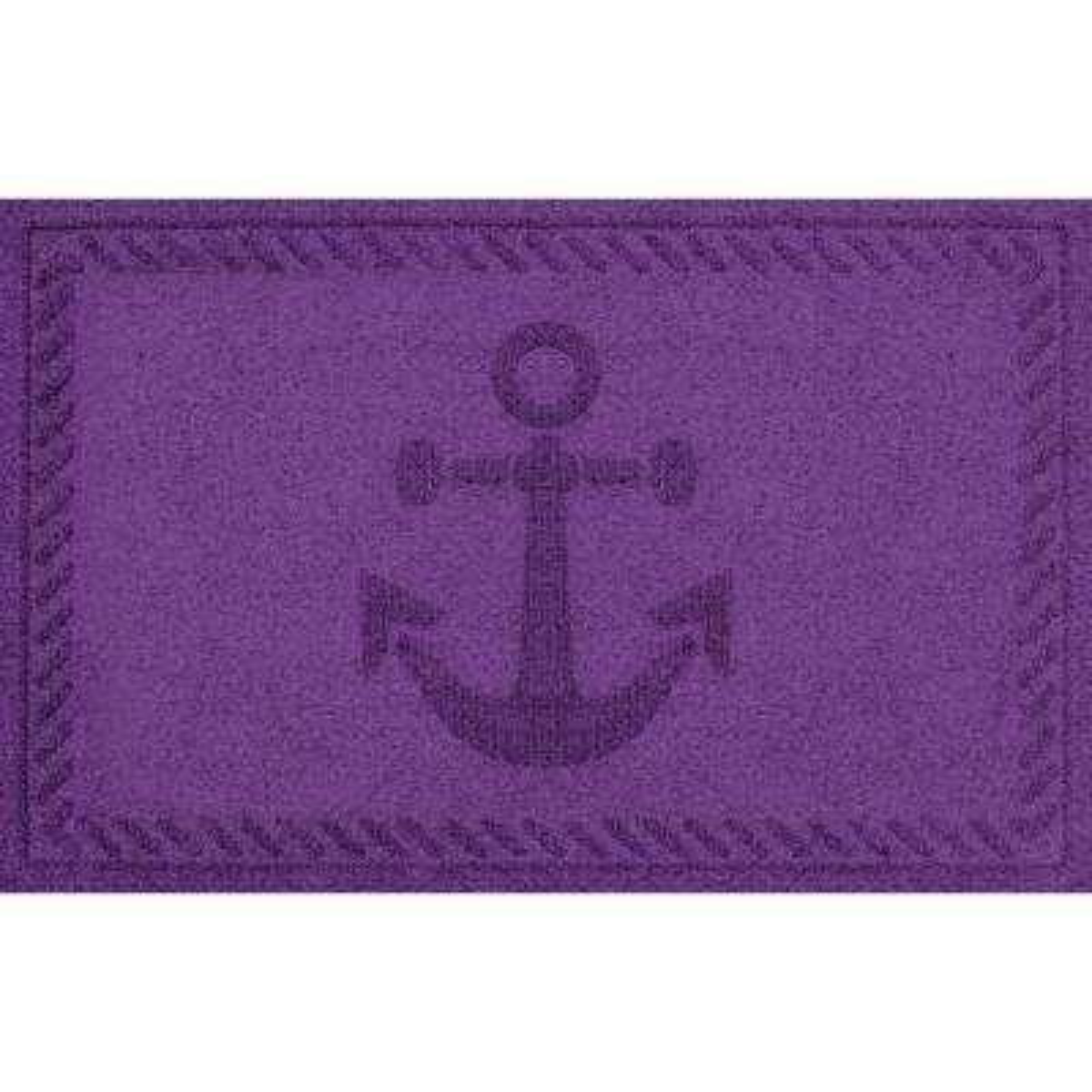 Purple 24 in. x 36 in. Ships Anchor Polypropylene Door Mat