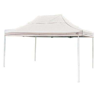 Pro Series 10 ft. x 15 ft. White Straight Leg Pop-Up Canopy