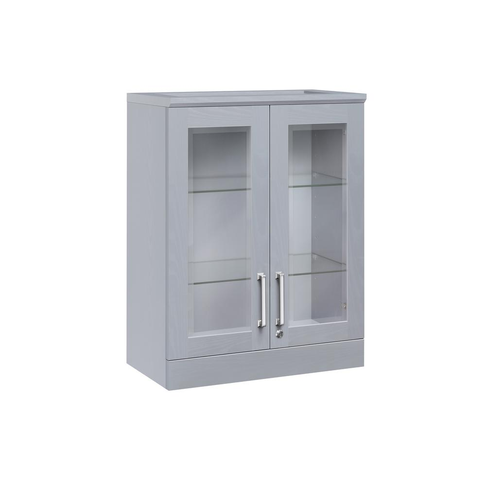 Newage Products Home Bar Gray Short Wall Shaker Style Cabinet