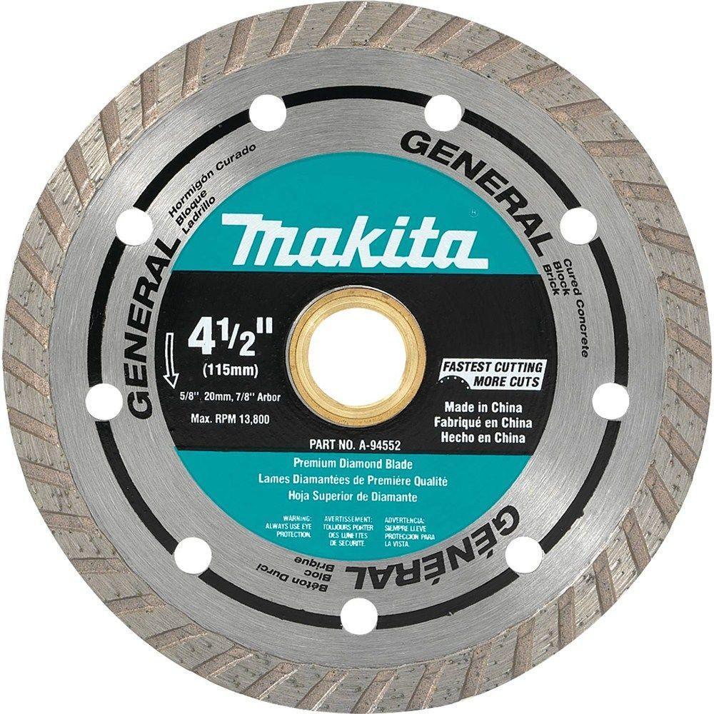 Makita 4-1/2 inch Turbo Rim Diamond Blade (2-Pack) by Makita