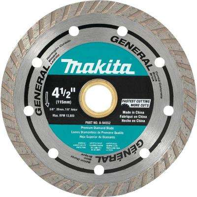 4-1/2 in. Turbo Rim Diamond Blade (2-Pack)