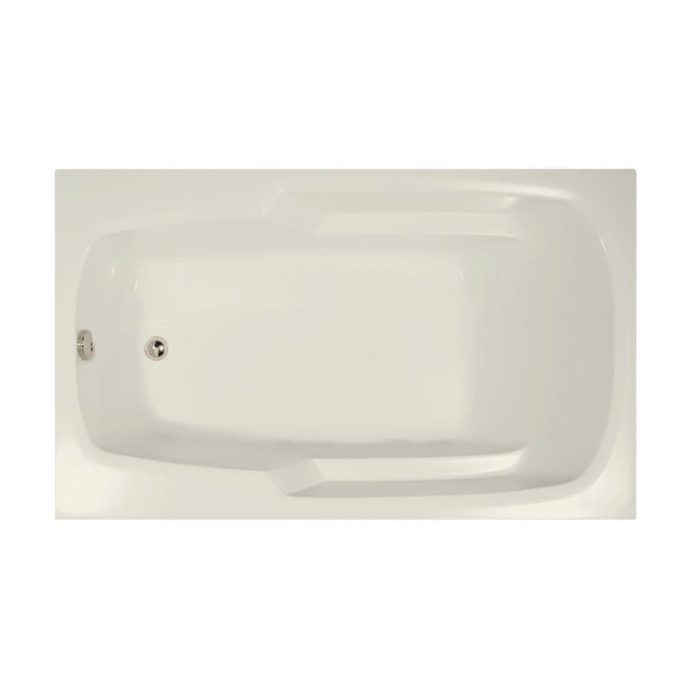 Studio 5 ft. Reversible Drain Air Bath Tub in Biscuit