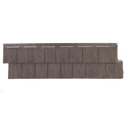 Shake RS - 14.5 in. x 48.75 in. Rough Sawn Shake in Cedar Blend (48.84 sq. ft. per Box) Plastic Shake Vinyl Siding