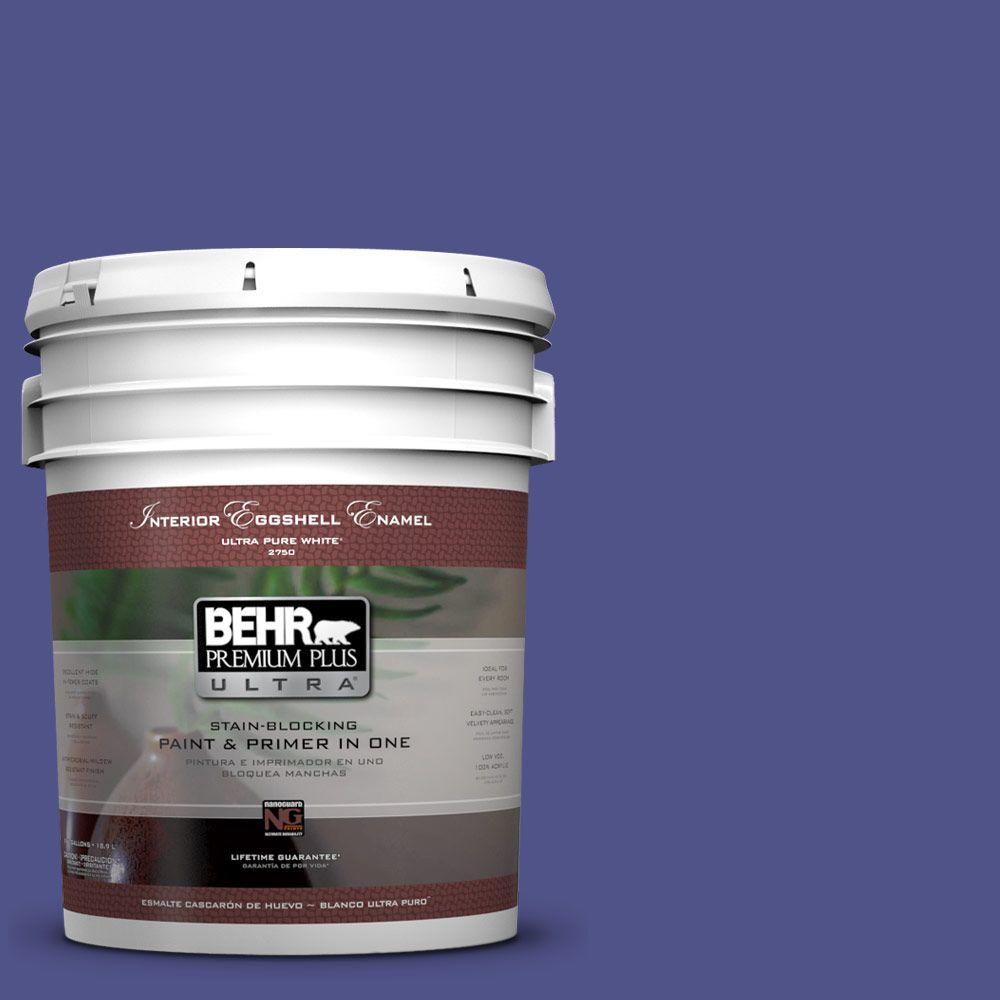 BEHR Premium Plus Ultra 5-gal. #P550-7 Purple Prince Eggshell Enamel Interior Paint