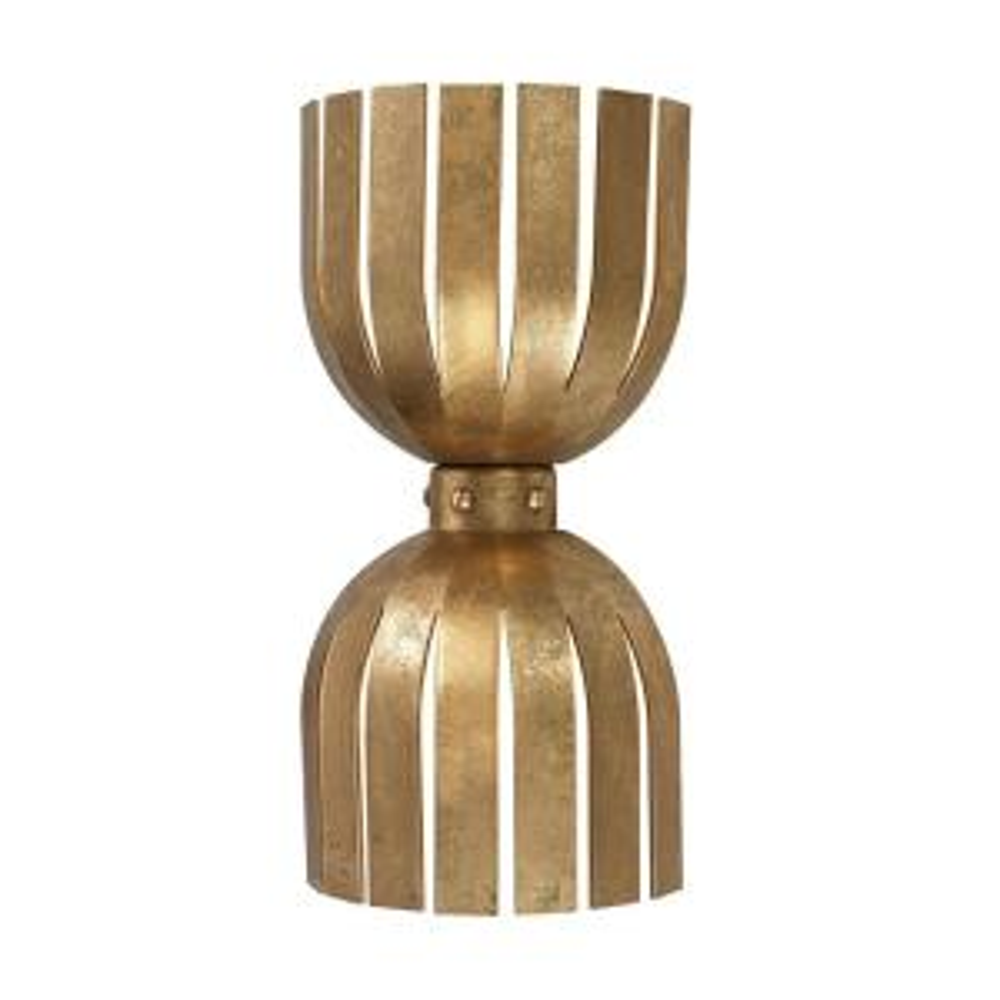 Titan Lighting Gold Leaf Olympia 2-Light Wall Sconce by Titan Lighting