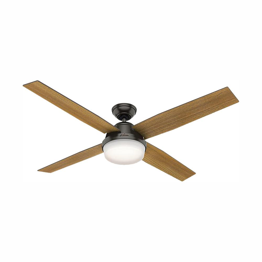 Dempsey 60 in. LED Indoor Noble Bronze Ceiling Fan with Universal