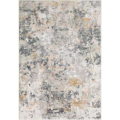 Marquis Charcoal 2 ft. x 3 ft. Distressed Area Rug