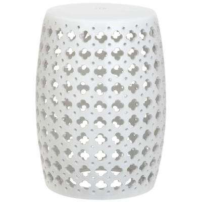 Lacey White Patio Stool
