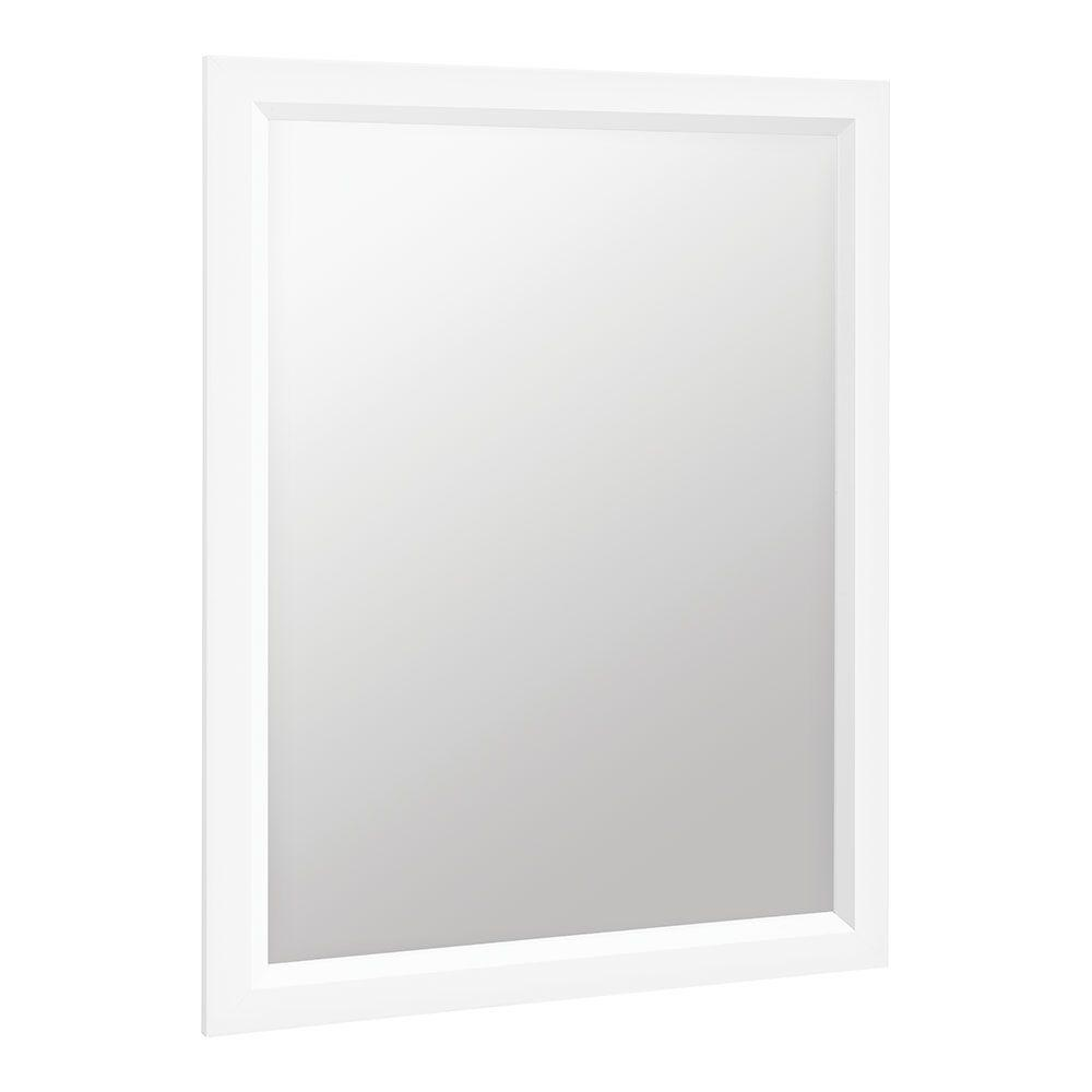 Glacier Bay Shaila 24 in. x 31 in. Single Framed Vanity Mirror in White