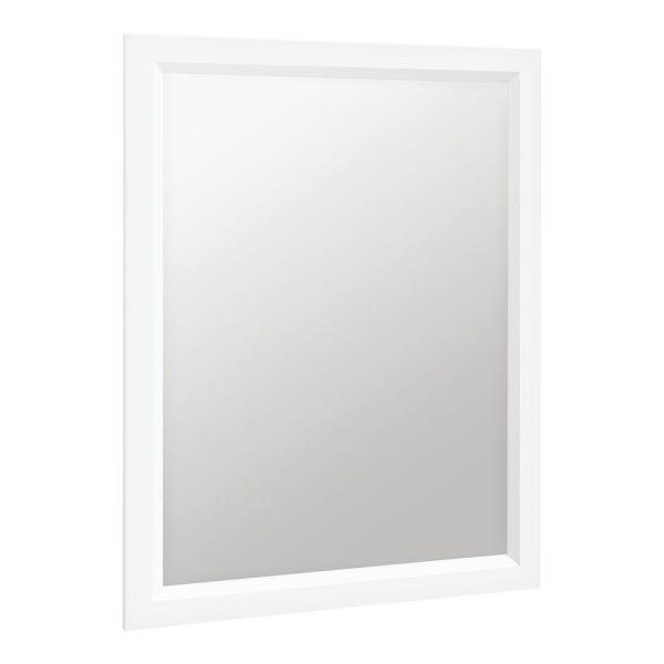 Shaila 24 in. x 31 in. Single Framed Vanity Mirror in White