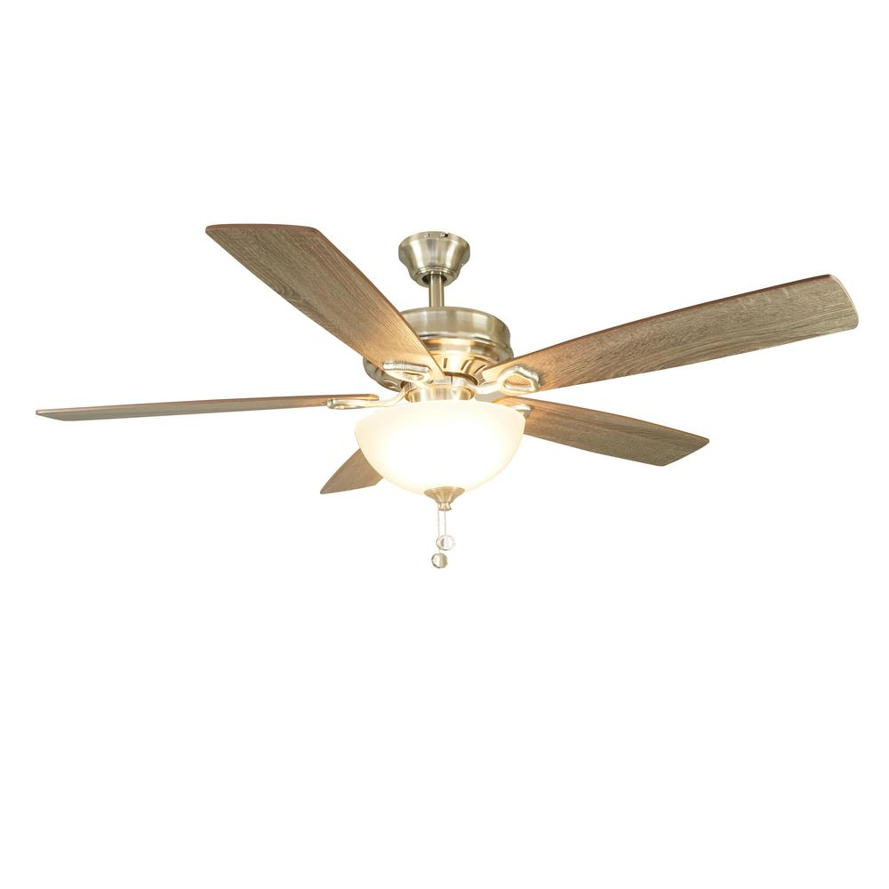 Chantilly 52 in. Indoor Brushed Nickel Ceiling Fan with Light