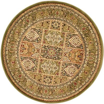 Lyndhurst Multi/Green 5 ft. x 5 ft. Round Area Rug