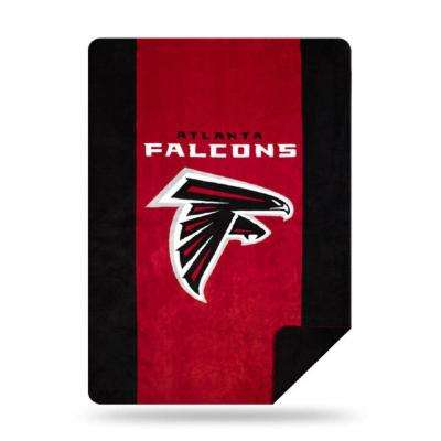 Falcons Multi Color Acrylic Sliver Knit Throw