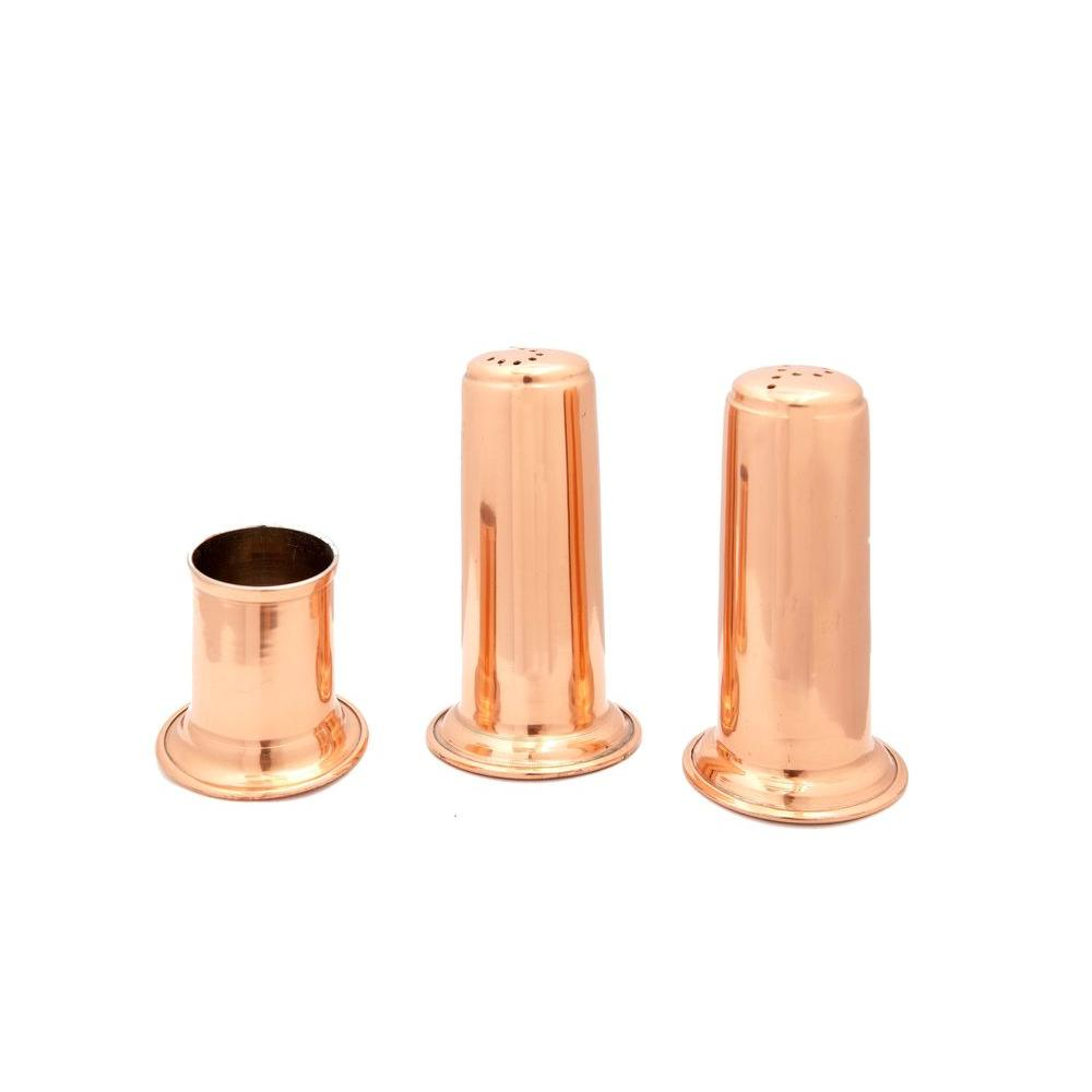 Solid Copper Salt & Pepper Shakers