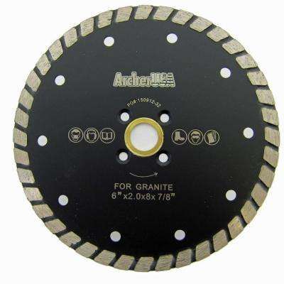6 in. Wide Turbo Diamond Blade for Stone and Masonry Cutting