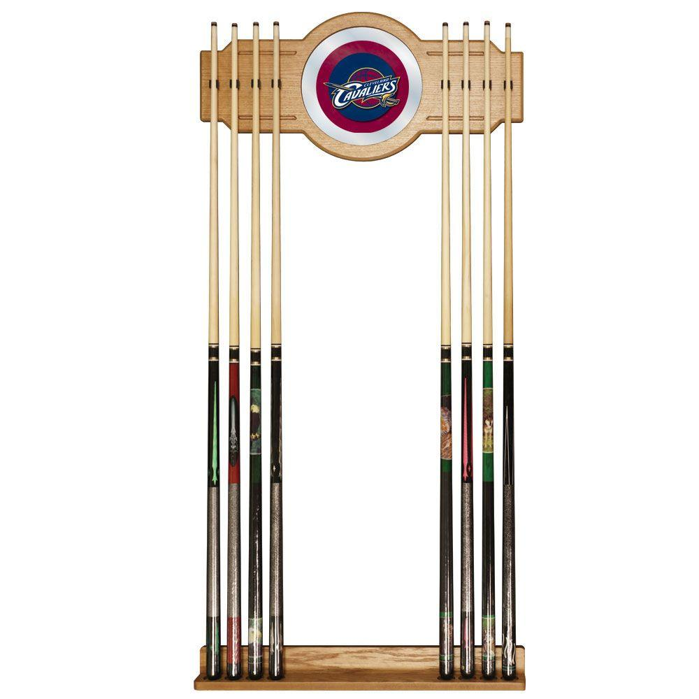 Cleveland Cavaliers NBA Hardwood Classics 30 in. Wooden Billiard Cue Rack