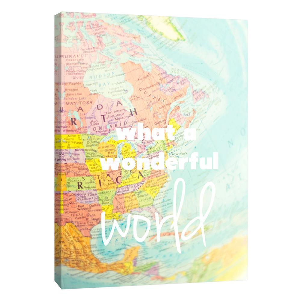 PTM Images 12.in x 10.in \'\'What a Wonderful World\'\' Printed Canvas ...