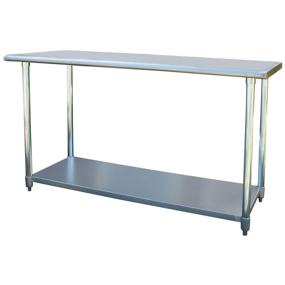 Beau +4. Sportsman Stainless Steel Kitchen Utility Table