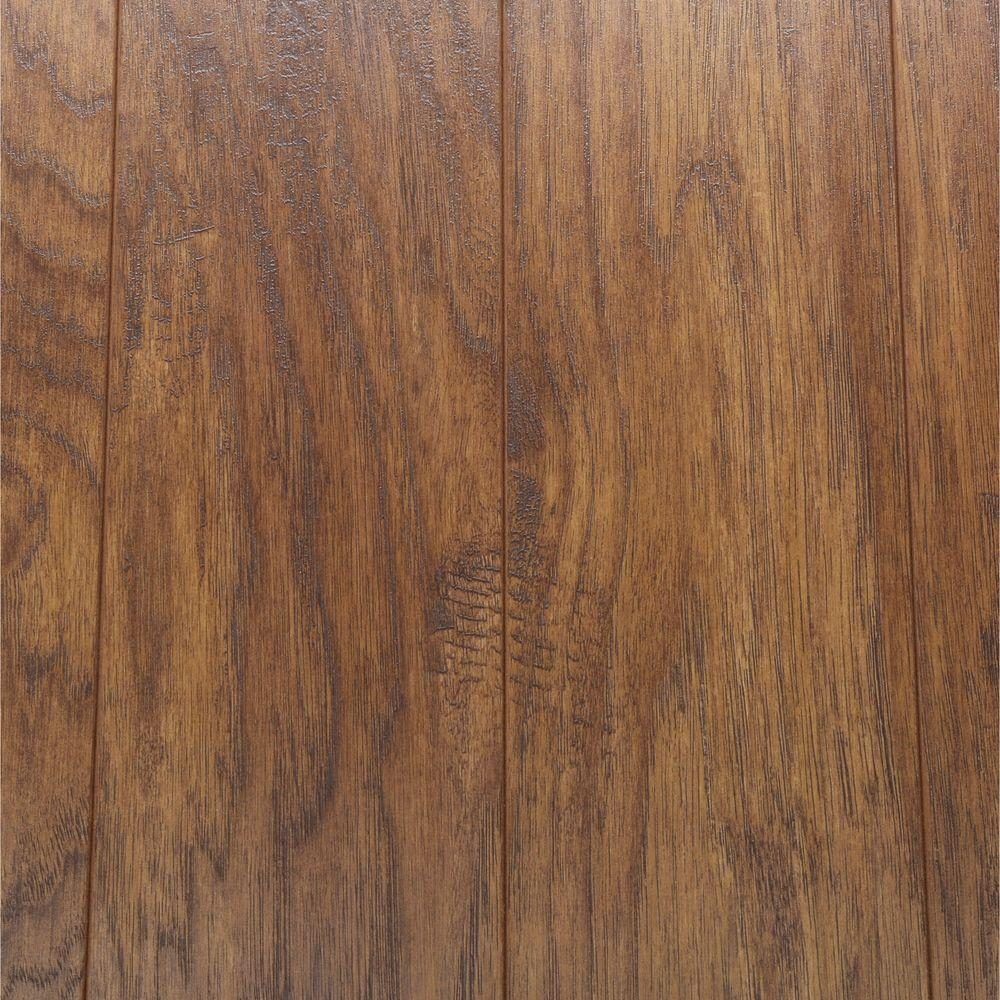 Home Decorators Collection Hand Scraped Medium Hickory 12 Mm Thick X 5 9/32  In. Wide X 47 17/32 In. Length Laminate Flooring (12.19 Sq. Ft.