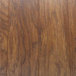 Hand-Scraped Light Hickory 12 mm Thick x 5-9/32 in. Wide x 47-17/32 in. Length Laminate Flooring (12.19 sq. ft. / case)