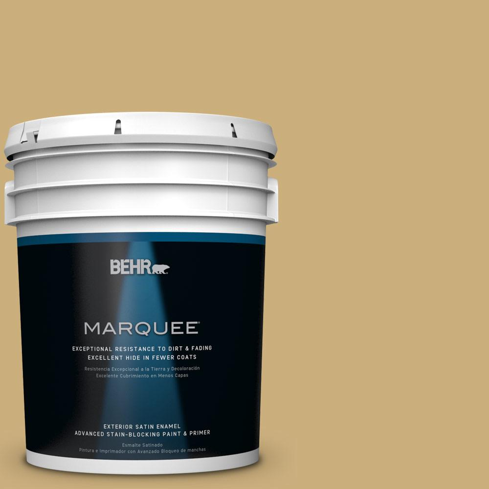 BEHR MARQUEE 5-gal. #PPU6-16 Cup Of Tea Satin Enamel Exterior Paint