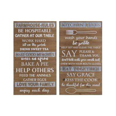 "23.50 in. x 14.75 in. ""Inspirational Message"" Printed Wall Art"