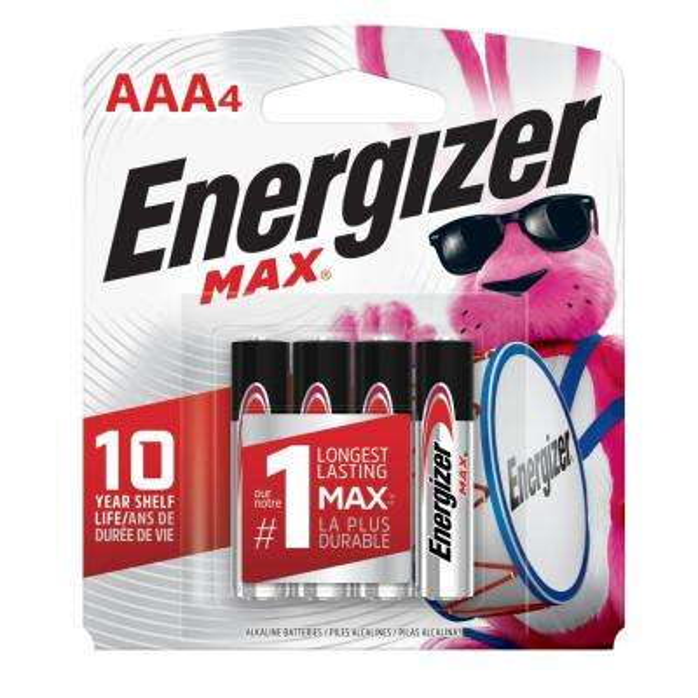 MAX Alkaline AAA Battery (4-Pack)