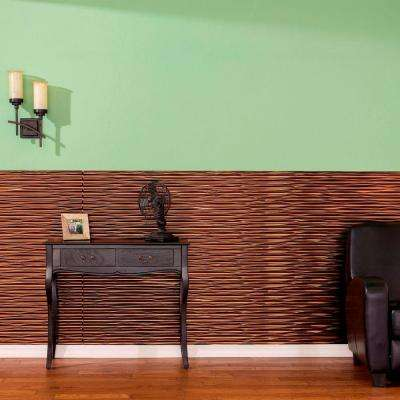 Dunes Horizontal 96 in. x 48 in. Decorative Wall Panel in Fern
