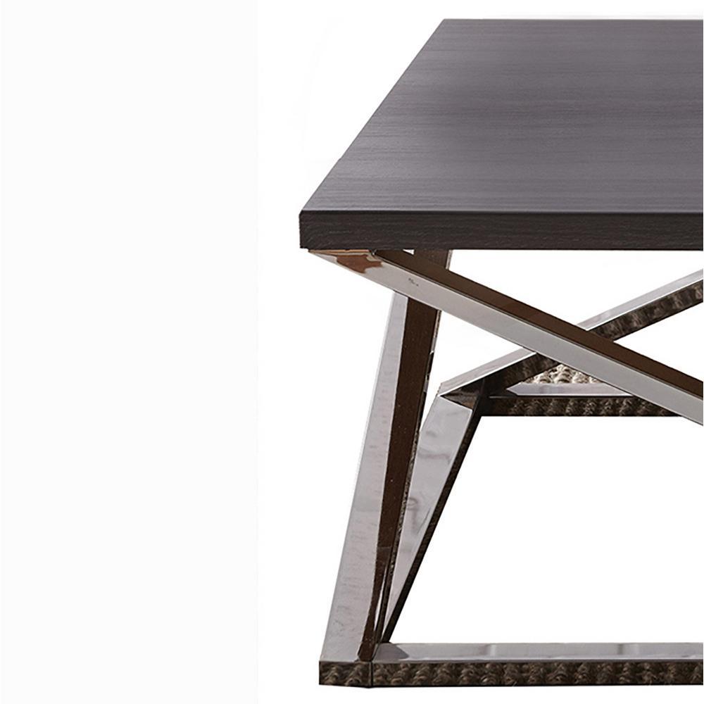 Magnificent Aegean Black Contemporary Square Cocktail Table Machost Co Dining Chair Design Ideas Machostcouk