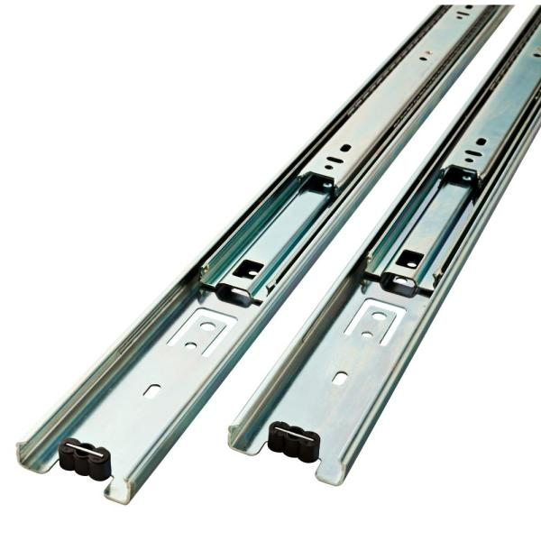 2 Pack,Metal 2-Section Drawer Slide Full Extension,Ball Bearings Side Mount Sliding Mute,Drawer Glides Heavy 25KG//55LB,Includes Screws,for Keyboard Stand and Computer Desk 250mm 10inch