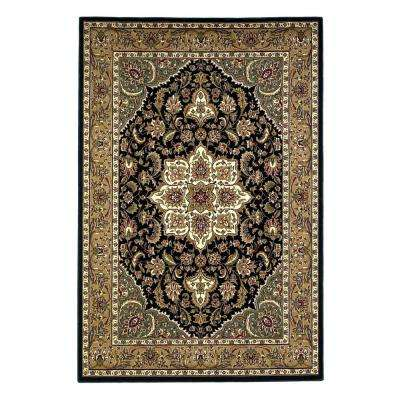Classic Medallion Black/Beige 5 ft. 3 in. x 7 ft. 7 in. Area Rug