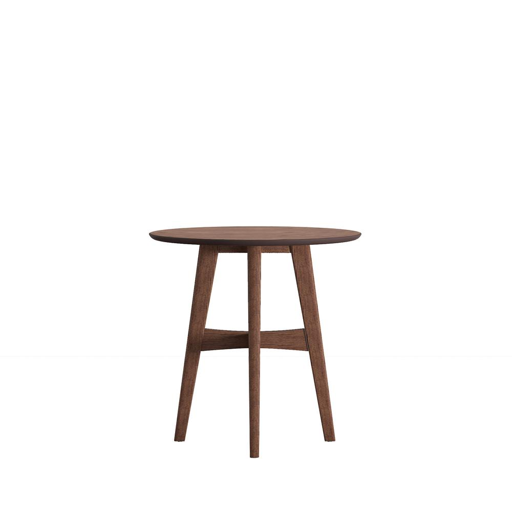 Calamar Walnut Mid Century Accent Table