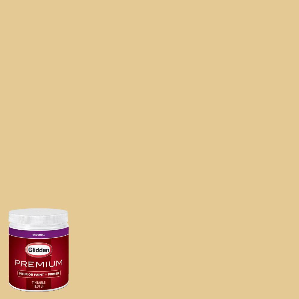 Glidden Premium 8 Oz Hdgy37 Sunnybrook Yellow Eggshell Interior Paint Sample With Primer