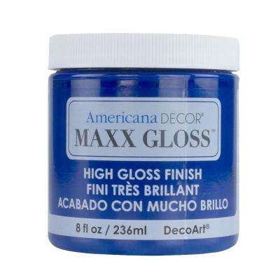 Americana Decor Maxx Gloss 8 oz. Sapphire Blue Paint
