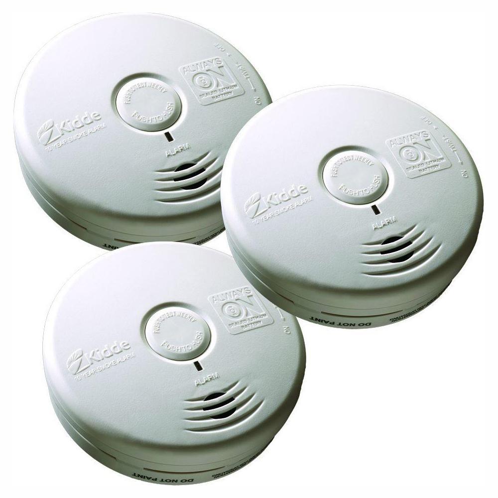 Kidde 10-Year Sealed Battery Smoke Detector with Photoelectric Sensor (3-pack)