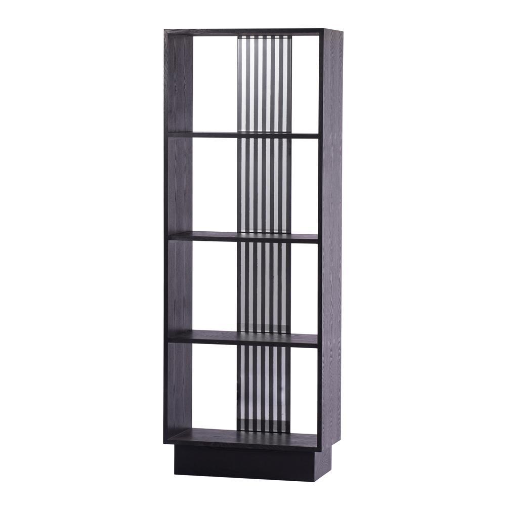 Wilton Black Oval Bookcase