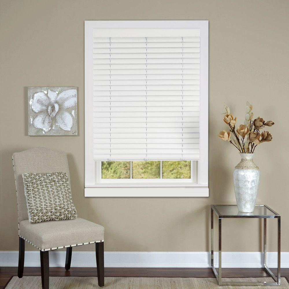 White Cordless 2 in. Vinyl Luna Venetian Blind - 27 in.
