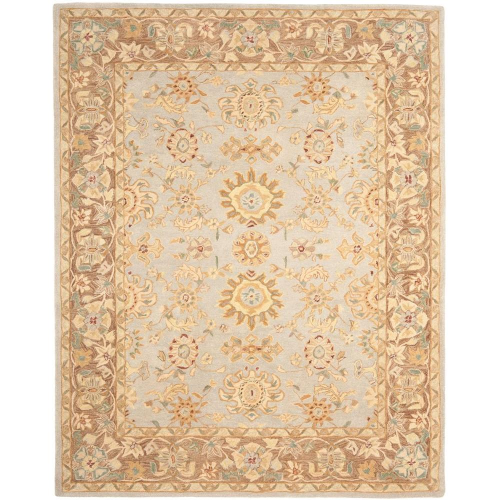 Safavieh Anatolia Teal/Brown 9 ft. 6 in. x 13 ft. 6 in. Area Rug