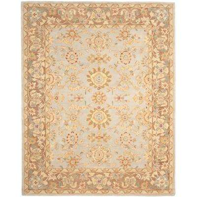 Anatolia Teal/Brown 9 ft. 6 in. x 13 ft. 6 in. Area Rug