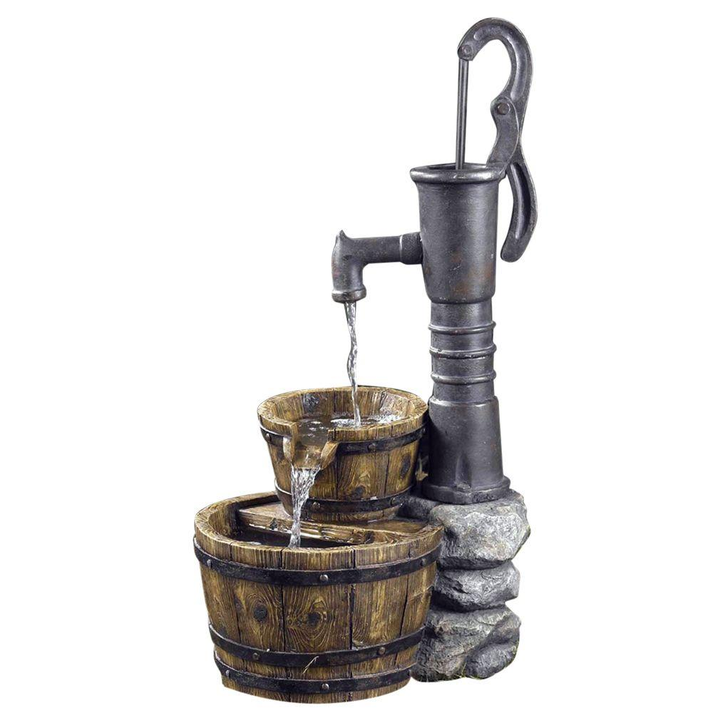 Fountain cellar old fashion water pump fountain fcl005 for Garden water pump