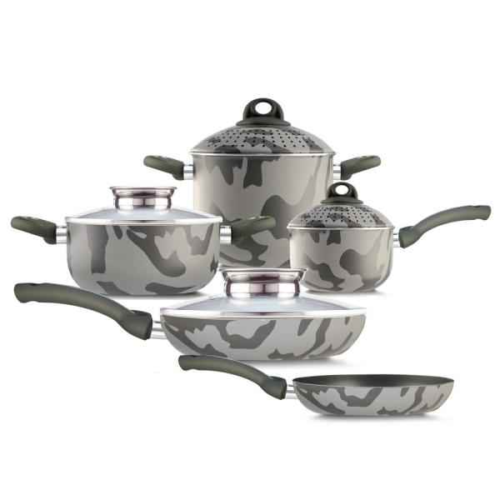 Pensofal Army 9-Piece Assorted Cookware Set