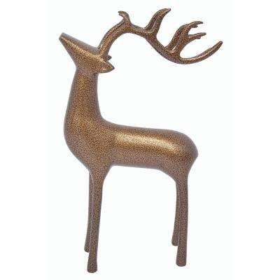 aluminum decorative reindeer in gold