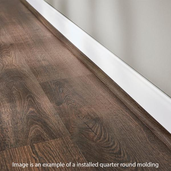 Home Decorators Collection Natural Oak Grey 19 Mm Thick X 3 4 In Wide X 94 In Length Coordinating Vinyl Quarter Round Molding Qr 60212 The Home Depot