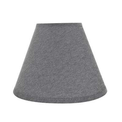 14 in. x 11 in. Grey Hardback Empire Lamp Shade