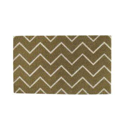 A1HC First Impression Chevron 18 in. x 30 in. Coir Door Mat