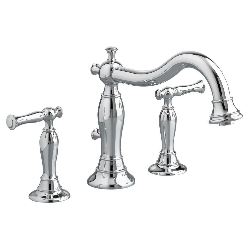 American Standard Quentin 2-Handle Deck-Mount Roman Tub Faucet for Flash Rough-in Valves in Polished Chrome