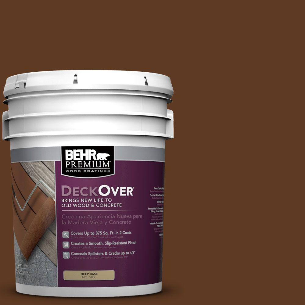 BEHR Premium DeckOver 5 gal. #SC-129 Chocolate Wood and Concrete Coating