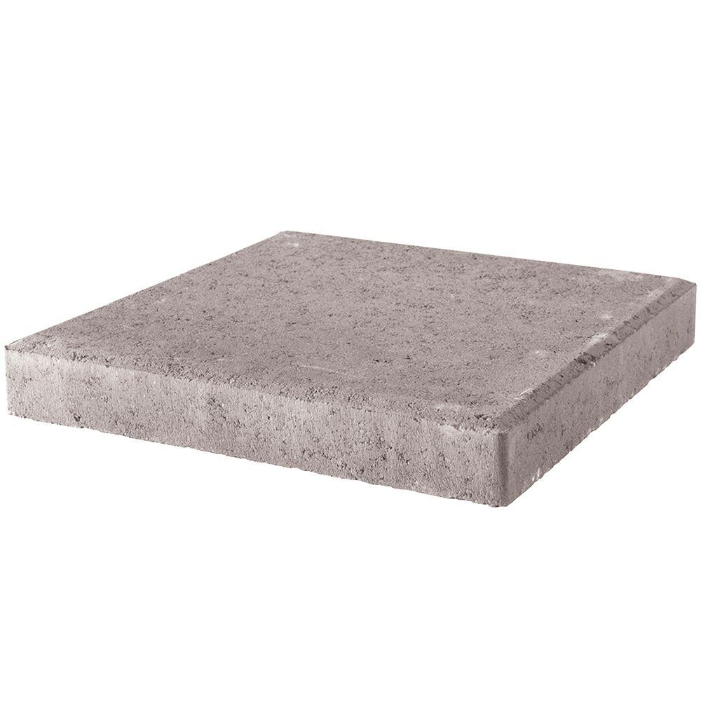 Good Pavestone 24 In. X 24 In. X 2 In. Pewter Square Concrete Step Stone 73700    The Home Depot